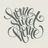 Home sweet home hand lettering vector illustration Eps 10