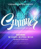 Hello Summer Beach Party Flyer Vector Design EPS 10