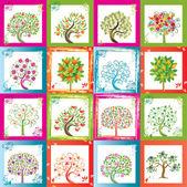 Huge set of original vector trees with frames