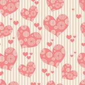 Seamless pink background with hearts. Wallpapers Valentines Day