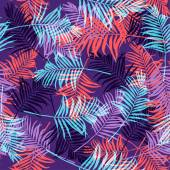 Tropical palm leaves pattern neon