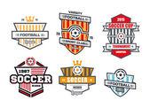 Vector Badges logos for football teams and tournaments championships basketballhockey baseball soccer