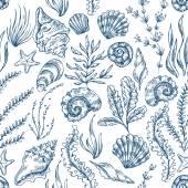 Sea Elements Pattern Vector illustration
