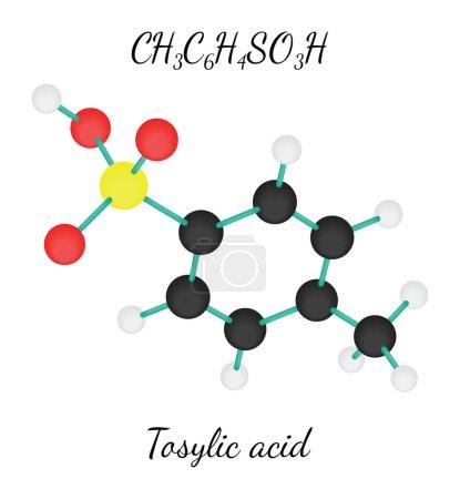 CH3C6H4SO3H Tosylic acid molecule