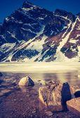 Vintage photo of Tatra mountains landscape
