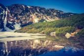 Altes Photo von Tatra-Gebirge-Landschaft