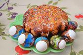 Pravoslavné Velikonoce dort s vejci