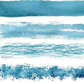 Blue watercolor brush strokes Vector textures