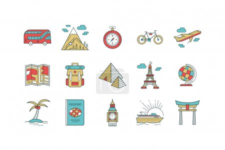 Countries icons set