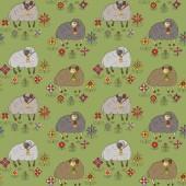 Bezešvé vzor s ovcí
