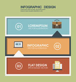 Template banners in 3 steps in the flat style element vector graphics business