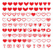 A set of vector heart shapes