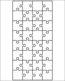 Vector illustration of  white puzzle separate parts