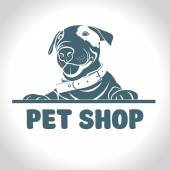 Dog vector logo pet products