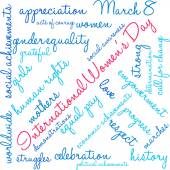 International Womens Day Word Cloud