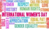 Nemzetközi nőnap szó felhő