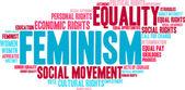 Feminizmus szó felhő