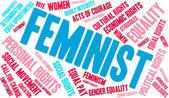 Feminista szó felhő