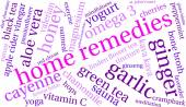 Home Remedies word cloud on a white background