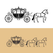 Carriage silhouette with horse