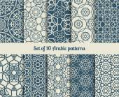 Set of vector arabic patterns Wallpaper backgrounds with abstract texture