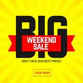 Velký plakát prodej víkend
