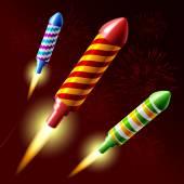 Létající ohňostroj raketa
