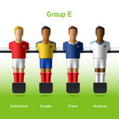 Table football foosball players World soccer championship Group E - Switzerland Ecuador France Honduras Vector
