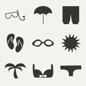 Flat in black and white concept mobile application vacation