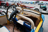 Podol, Ukraine - May 19, 2016: Dashboard and steering wheel of h
