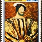 Постер, плакат: Portrait of Francis I on postage stamp