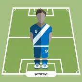 Football Soccer Player silhouette isolated on the play field Computer game Guatemala  Football club player Digital background vector illustration