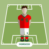 Football Soccer Player silhouette isolated on the play field Computer game Morocco Football club player Digital background vector illustration