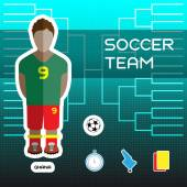 Soccer Team - Ghana Football Players Scoreboard Vector digital illustration Soccer tournament sheet Visual graphic presentation