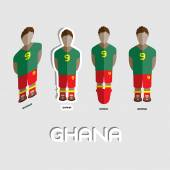 Ghana Soccer Team Sportswear Template Front View of Outdoor Activity Sportswear for Men and Boys Digital background vector illustration Stylish design for t-shirts shorts and boots