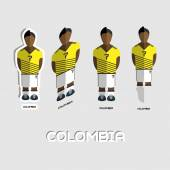 Colombia Soccer Team Sportswear Template Front View of Outdoor Activity Sportswear for Men and Boys Digital background vector illustration Stylish design for t-shirts shorts and boots