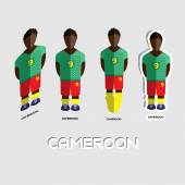 Cameroon Soccer Team Sportswear Template Front View of Outdoor Activity Sportswear for Men and Boys Digital background vector illustration Stylish design for t-shirts shorts and boots