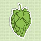 Green Hop Flower Vector Illustration Final image ready for beer marketing & selling purposes Also used in herbal medicine as a treatment for insomnia anxiety restlessness