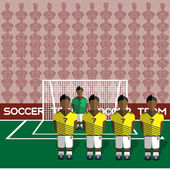 Colombia Football Club Soccer Players Silhouettes Computer game Soccer team players big set Sports infographic Football Teams in Flat Style Goalkeeper Standing in a Goal Vector illustration