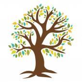 Retro strom s barevnými listy