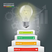 Business staircase conceptual infographic.