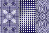 Set of 3 Abstract patterns Seamless geometric illustration cloth vector backgrounds fabric textile pattern