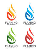Vector flame logo for industrial gas company