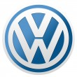 Постер, плакат: Volkswagen logo isolated