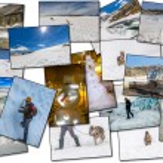 Постер, плакат: Winter pictures collage