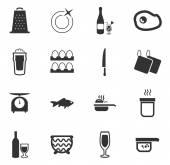 Potraviny a kuchyňské sady ikon