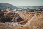 Ruiny pevnosti Calamita na skále