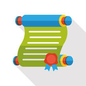 Letter paper flat icon