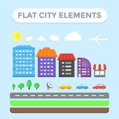 Plochá městské prvky