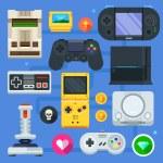 Постер, плакат: The gamer icon set